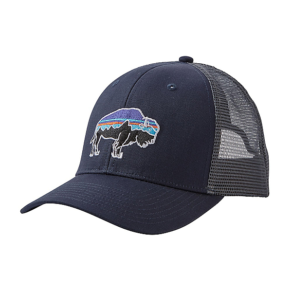 Patagonia Fitz Roy Bison Trucker Hat, Navy Blue, 600