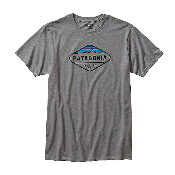 Patagonia Fitz Roy Crest Mens T-Shirt, Narwhal Grey, 600