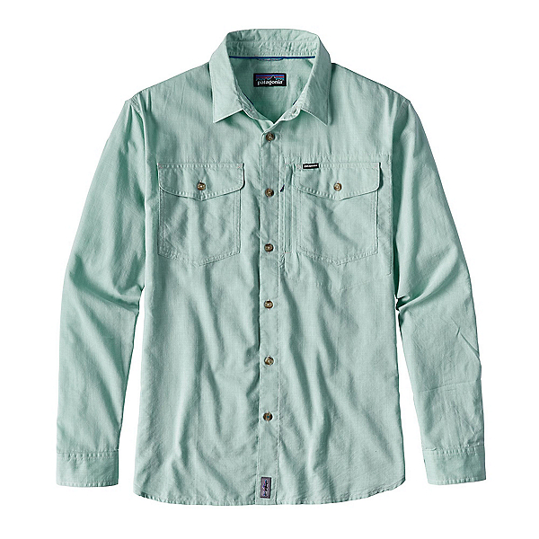 Patagonia Cayo Largo Long Sleeve Mens Shirt, Gill Green, 600