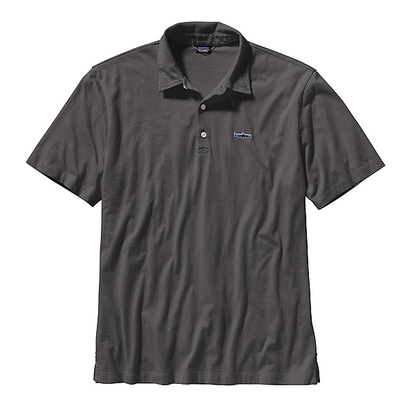 Patagonia Trout Fitz Roy Polo Mens Shirt, Forge Grey, 600