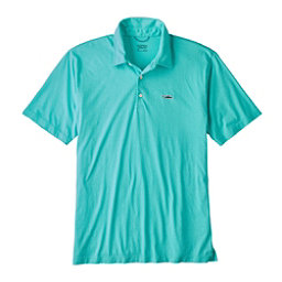 Patagonia Trout Fitz Roy Polo Mens Shirt, Strait Blue, 256
