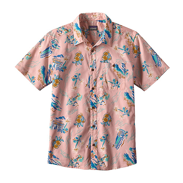 Patagonia Go To Mens Shirt, C Street-Feather Pink, 600