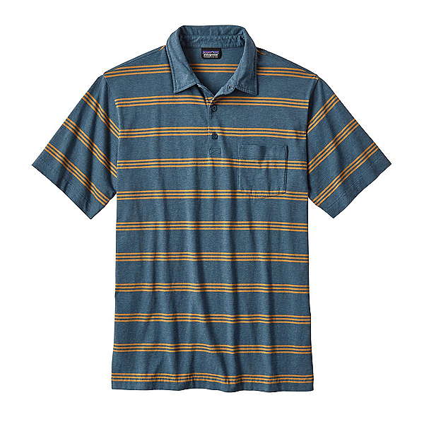 Patagonia Squeaky Clean Polo Mens Shirt, Branch Creek Bay Blue, 600
