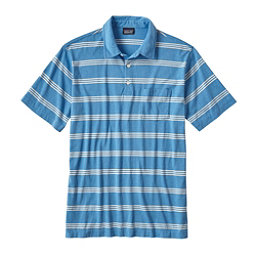 Patagonia Squeaky Clean Polo Mens Shirt, Branch Creek Radar Blue, 256