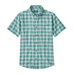 Patagonia Lightweight Bluffside Mens Shirt, Ascent Plaid Small-Beryl Green, 256
