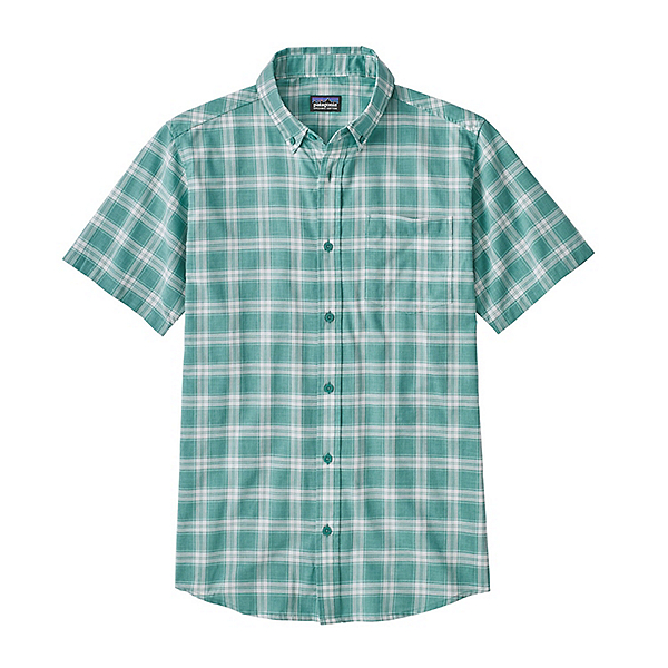 Patagonia Lightweight Bluffside Mens Shirt, Ascent Plaid Small-Beryl Green, 600