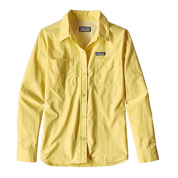Patagonia Long Sleeved Anchor Bay Womens Shirt, Yoke Yellow, 600