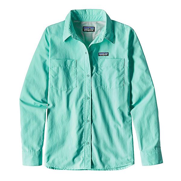 Patagonia Long Sleeved Anchor Bay Womens Shirt, Bend Blue, 600