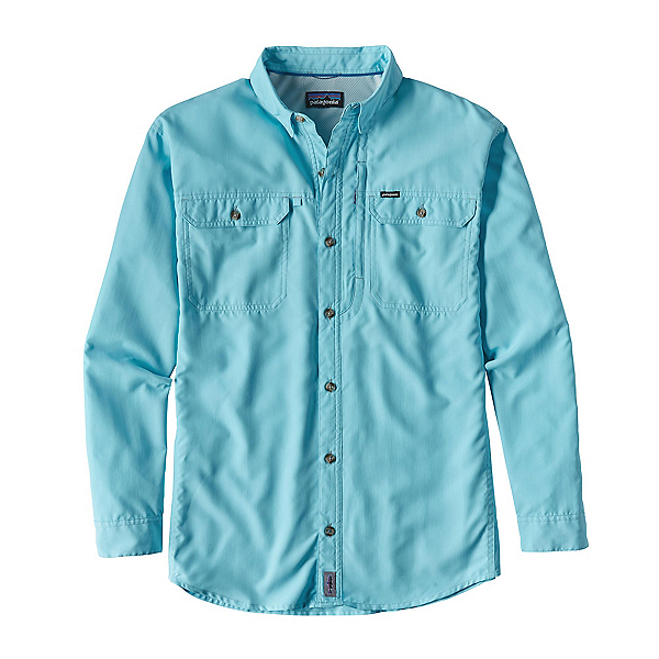 Patagonia Sol Patrol II Long Sleeve Mens Shirt, Cuban Blue, 600
