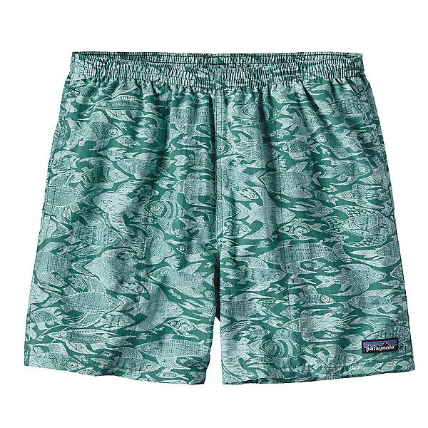Patagonia Baggies 5in Mens Hybrid Shorts, Sketchy Fish-Gem Green, 600