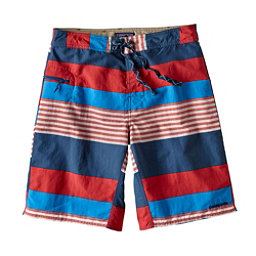 Patagonia Wavefarer Mens Board Shorts, Fitz Stripe-Fire, 256