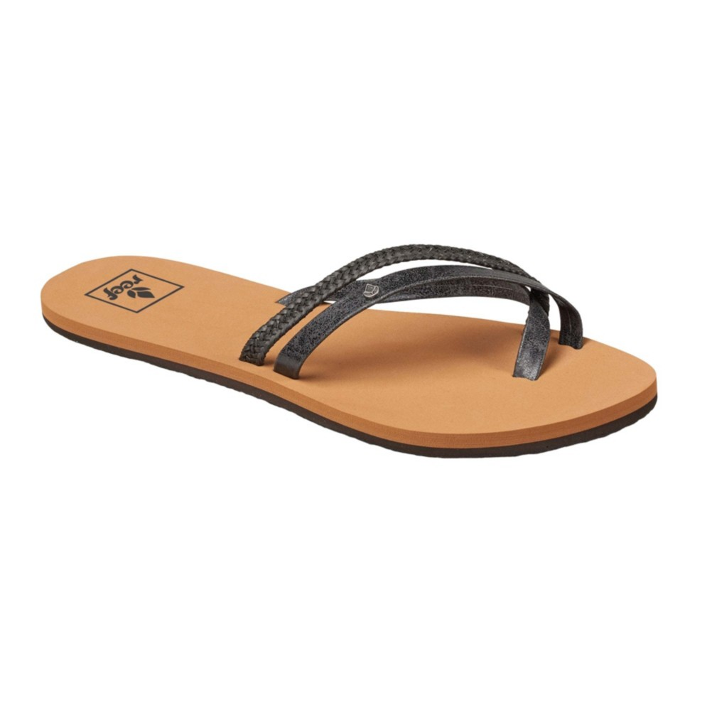 Womens OContrare Lx Flip Flops, Black, One Size Reef