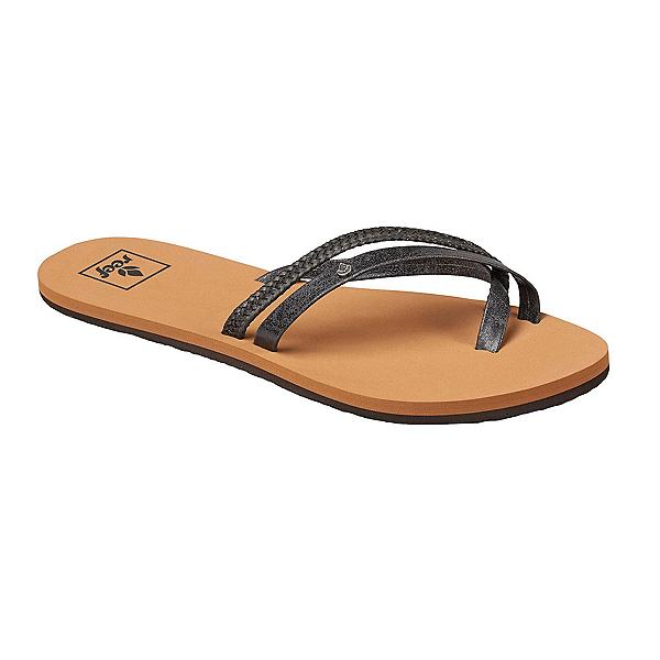 Reef Ocontrare LX Womens Flip Flops, Black, 600
