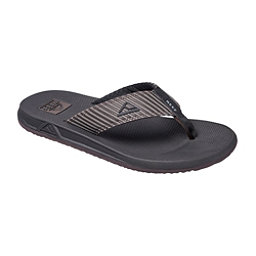 Reef Phantom Prints Mens Flip Flops, Brown Pinstripe, 256