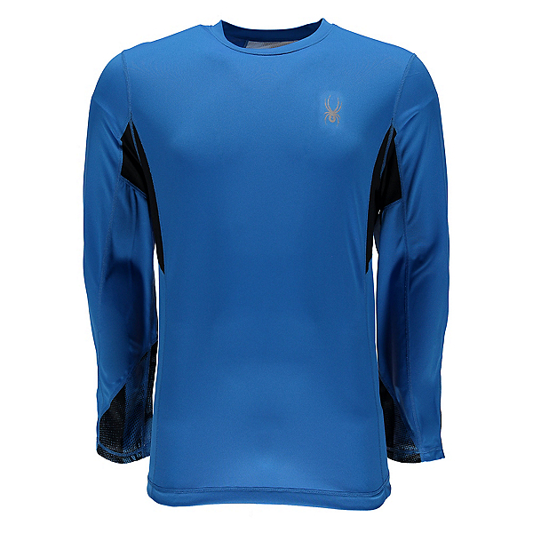 Spyder Alps L/S Tech Mens Shirt, French Blue-French Blue Halfto, 600