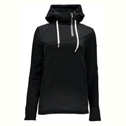 Spyder Myrge Fleece Womens Hoodie (Previous Season), Black-Image Grey, 256