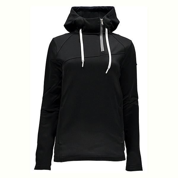 Spyder Myrge Fleece Womens Hoodie, Black-Image Grey, 600