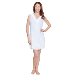 Dotti Sunny Stripe Dress Bathing Suit Cover Up, White, 256