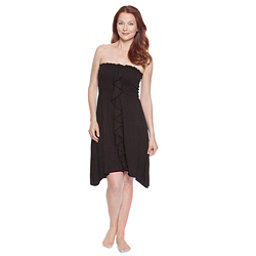 Dotti Beachside Beauty Smocked Bathing Suit Cover Up, Black, 256