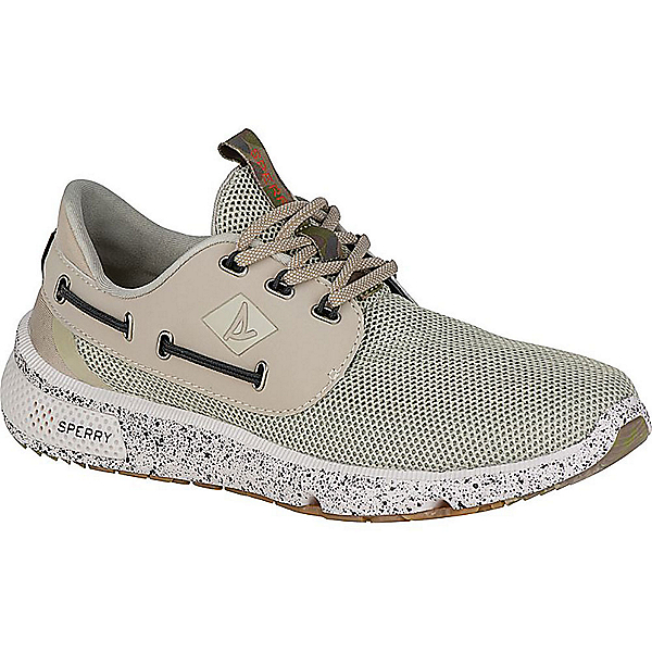 Sperry 7 Seas Camo Boat Mens Shoes, White Camo, 600