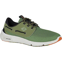 Sperry 7 Seas Camo Boat Mens Shoes, Olive Camo, 256