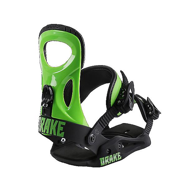 Drake King Snowboard Bindings, Green Fluo-Black, 600