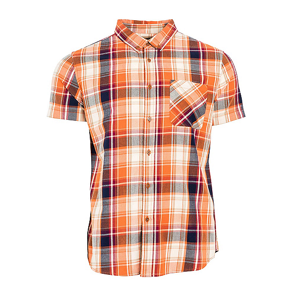 United By Blue Springer Plaid Mens Shirt, Orange-Blue, 600