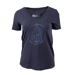 United By Blue Sun Mountain Womens T-Shirt, Navy, 256