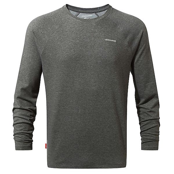Craghoppers Nat Geo Nosilife Bayame Long Sleeve Mens Shirt, Black Pepper Marl, 600
