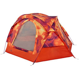 The North Face Homestead Domey 3 Tent (Previous Season), Tibetan Orange Heat Map Print-, 256