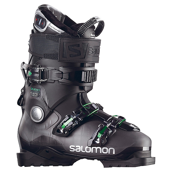 Salomon Quest Access Custom Heat Ski Boots, Anthracite Translucent-Black, 600