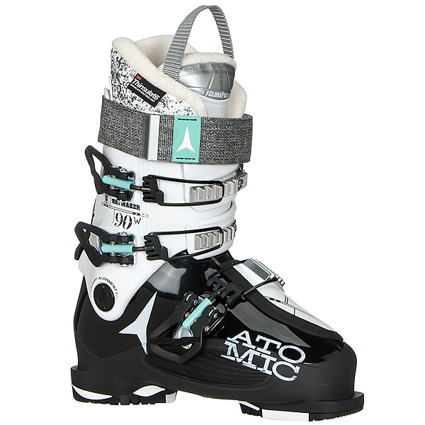 Atomic Waymaker 90 W Womens Ski Boots, Black-White, 600