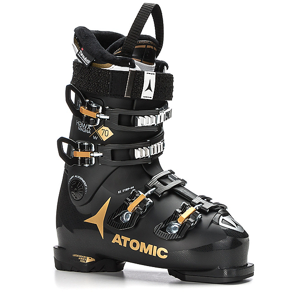 Atomic Hawx Magna 70 W Womens Ski Boots 2018, Black-Gold, 600