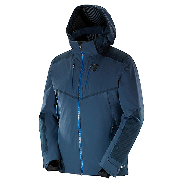 Salomon Whitefrost Flowtec Mens Insulated Ski Jacket, Big Blue X, 600