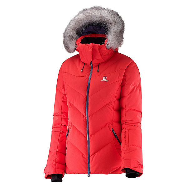 Salomon Icetown w/Faux Fur Womens Insulated Ski Jacket, , 600