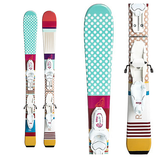 Roxy Bonbon Mini Kids Skis with Kid-X Bindings, , 600
