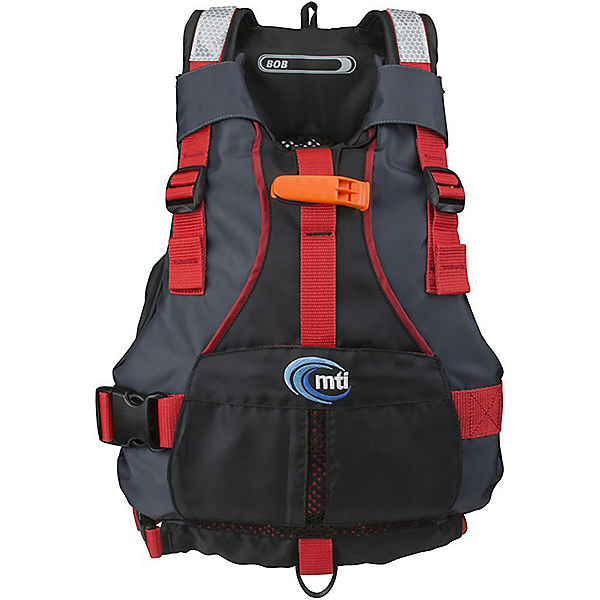 MTI BOB Kids Kayak Life Jacket 2017, Black-Red, 600