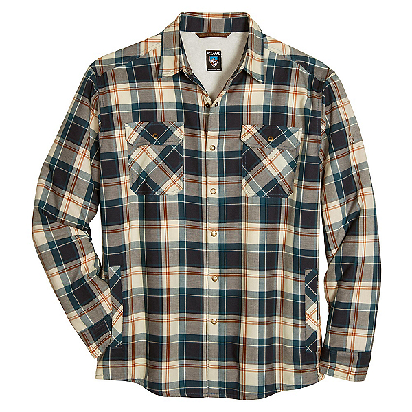 KUHL OutRydr Mens Flannel Shirt, Blue Copper, 600