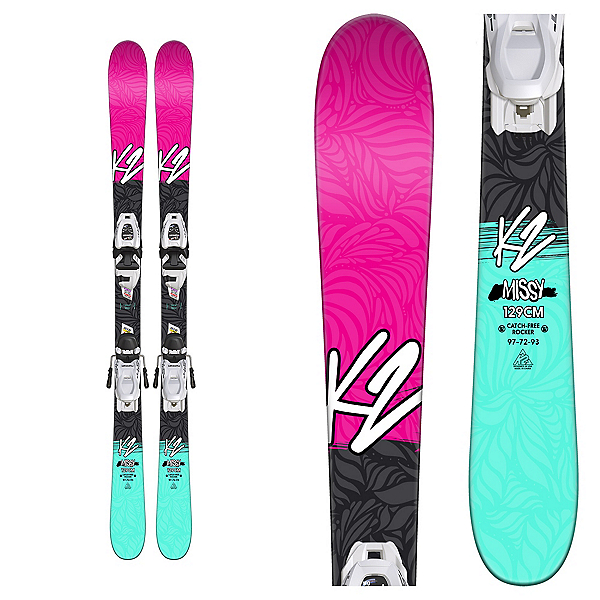 K2 Missy Kids Skis with FDT 4.5 Bindings 2018, , 600