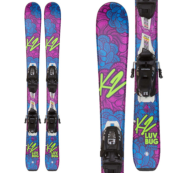 K2 Luv Bug Kids Skis with FDT 4.5 Bindings, , 600
