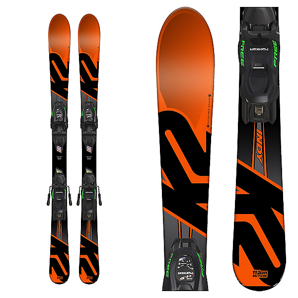 K2 Indy Kids Skis with FDT 7.0 Bindings, , 600