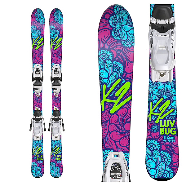 K2 Luv Bug Kids Skis with FDT 7.0 Bindings, , 600