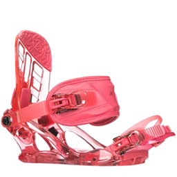 K2 Kat Girls Snowboard Bindings 2018, Berry, 256