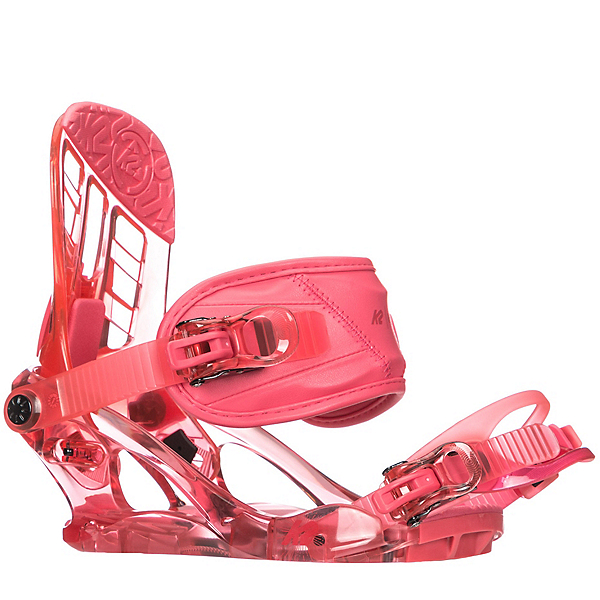K2 Kat Girls Snowboard Bindings, Berry, 600