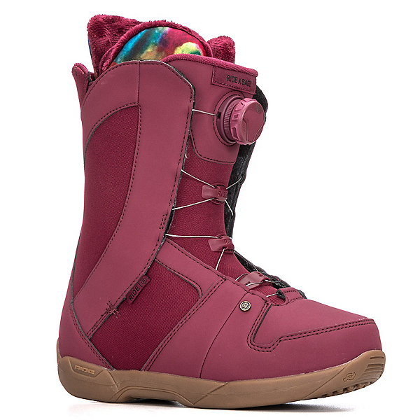 Ride Sage Boa Coiler Womens Snowboard Boots 2018, Maroon, 600