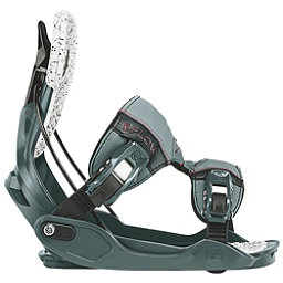 Flow Minx Womens Snowboard Bindings, Slate-Ruby, 256