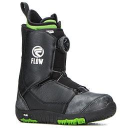 Flow Micron Boa Kids Snowboard Boots 2018, Black, 256