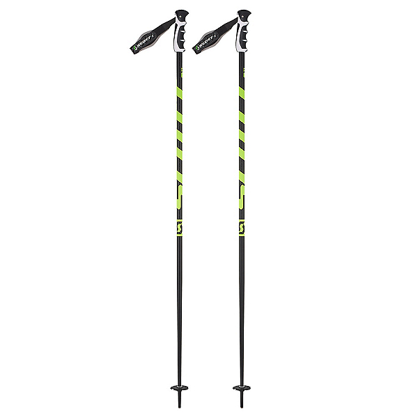Scott World Cup Strike Ski Poles, Black-Yellow, 600