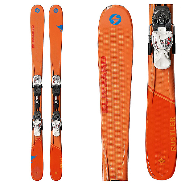 Blizzard Rustler Jr. Kids Skis with IQ 7.0 Bindings 2018, , 600