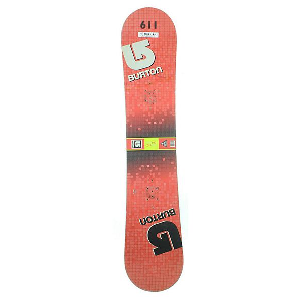 Burton Used LTR Blue Smoke Kid's Snowboard Snowboard, Lt Red Checkered, 600